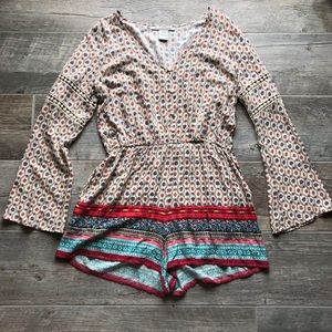 American Rag long sleeve romper with pockets